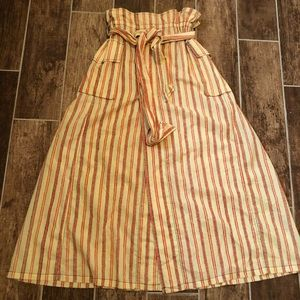 NWOT! FP ONE Maxi Skirt XS Open Belted